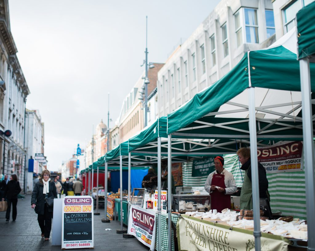 Various Farmers Market stands